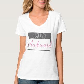 Hallo, ist mein Name ungeschicktes Shirt im Rosa