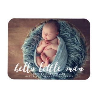 Hallo kleine Foto-Geburts-Mitteilung des Mann-| Magnet