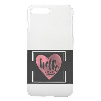 Hallo Liebe klarer IPhone Fall iPhone 8 Plus/7 Plus Hülle