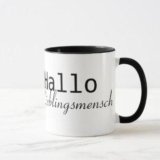 Hallo Lieblingsmensch Tasse
