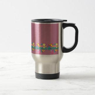 Hallo-Lo Reise, Reise-Tasse - Vintages Rosa Reisebecher
