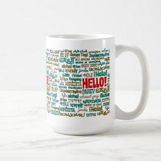Hallo (multi Sprach) Tasse