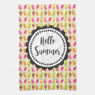 Hallo SommerPopsicles und Eiscreme Handtuch