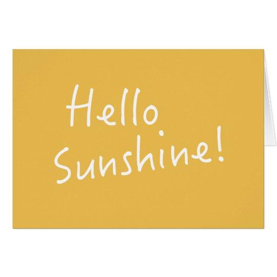 Hallo Sonnenschein - Anmerkungs-Karte - Gelb Mitteilungskarte