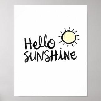 Hallo Sonnenschein Poster