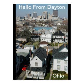 Hallo von Dayton, Ohio Postkarte