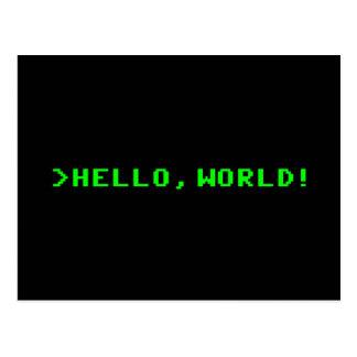 Hallo Weltcomputer-Programmierung Postkarten