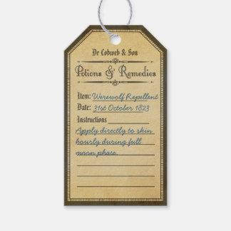 Halloween abstoßende Trankumbauten Vintagen Geschenkanhänger
