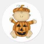 Halloween baby pumpkin stickers