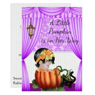 Halloween-Babyparty-Einladung Karte
