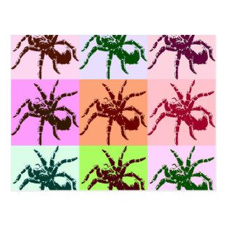 Halloween beängstigende Tarantula-Fliesen Postkarte