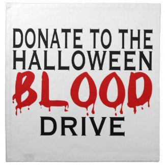 Halloween-Blut-Antrieb Stoffserviette