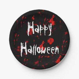 Halloween-Blut-Spritzer-Papierplatte Pappteller