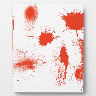 Halloween-Blut-Spritzerangelegenheiten Fotoplatte