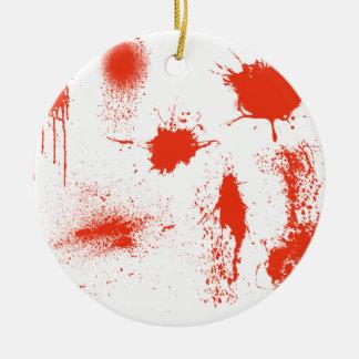Halloween-Blut-Spritzerangelegenheiten Keramik Ornament