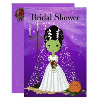 Halloween-Brautparty-Einladung Frankenstein Karte