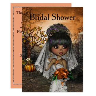 Halloween-Brautparty-Einladung Karte