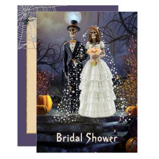 Halloween-Brautparty-Einladung mit den Skeletten Karte