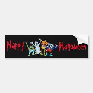 Halloween-Cartoongeschöpfwellenartig bewegen Autoaufkleber