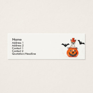 Halloween-Chihuahuahund Mini Visitenkarte
