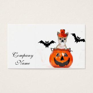 Halloween-Chihuahuahund Visitenkarte