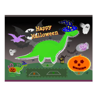 Halloween-Dinosaurier-Statue-Schnitt u. Postkarte