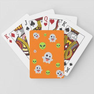 Halloween Emoji Spielkarten