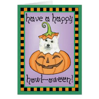 Halloween Eskie Grußkarte