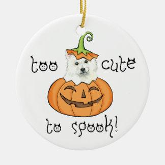 Halloween Eskie Keramik Ornament