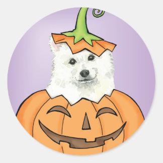 Halloween Eskie Runder Aufkleber