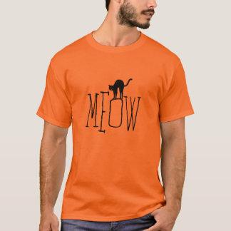 Halloween espiègle T-shirt d'orange de chat noir