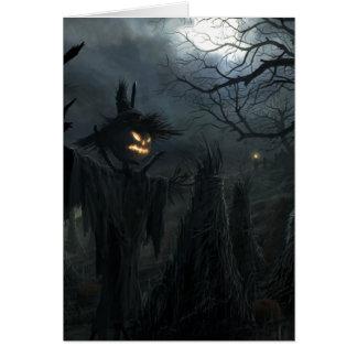 Halloween-Feld des Todes Mitteilungskarte