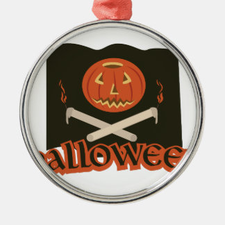 Halloween-Flagge Silbernes Ornament
