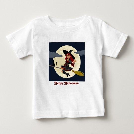Halloween-Fliegen-Hexe Baby T-shirt
