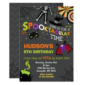 Halloween-Geburtstags-Einladung Spooktacular Party Karte