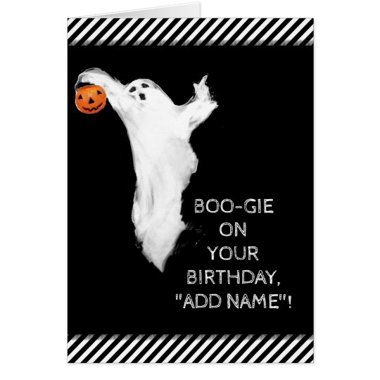 Halloween-Geburtstagskarte Grußkarte