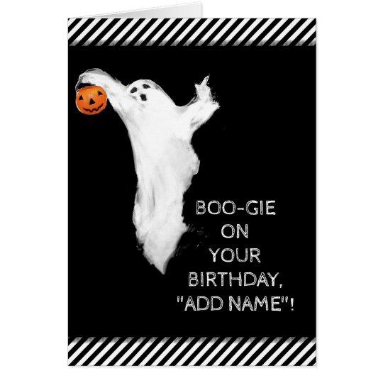 Halloween-Geburtstagskarte Karte