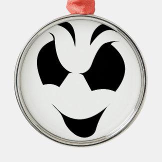 Halloween-Geist-Gesicht Rundes Silberfarbenes Ornament