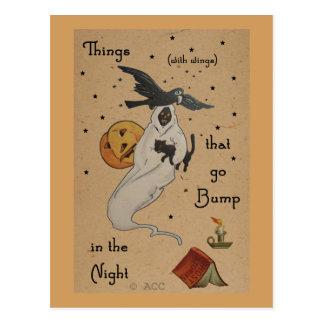 Halloween-Geist-Postkarte Postkarte