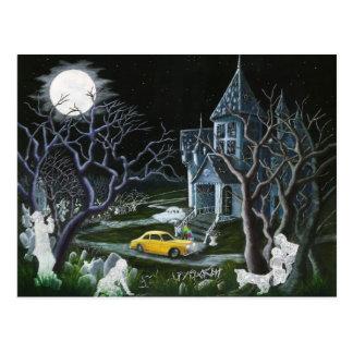 Halloween, Geister, Spuk, Haus, Villa Postkarte