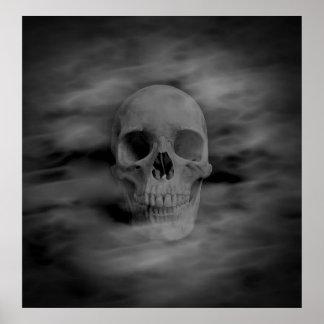 Halloween-Geistschädel Poster