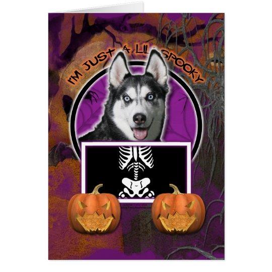 Halloween - gerade ein Lil gespenstisch - Karte