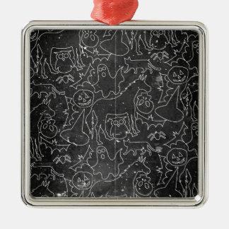 Halloween-Gespenst-Einhorn V02 Silbernes Ornament