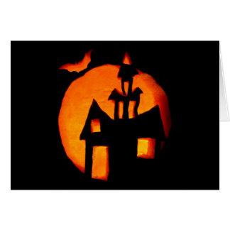 Halloween-Grußanmerkungskarte 1 Karte