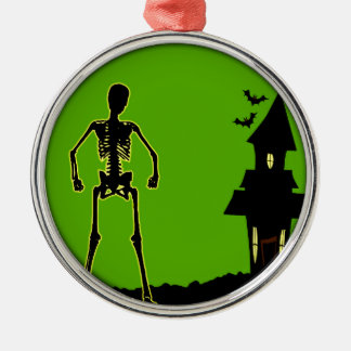 Halloween-Haus Silbernes Ornament
