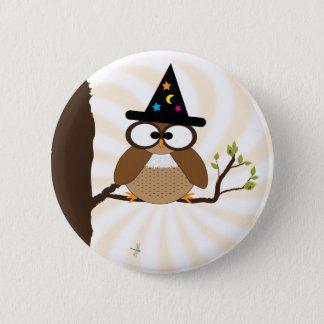 Halloween-Hexe-Eulen-Knopf Runder Button 5,1 Cm