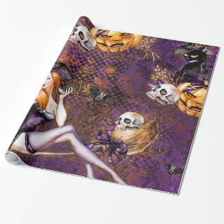Halloween-Hexe Geschenkpapier