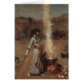 Halloween-Hexe Grußkarte