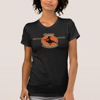 Halloween-Hexe und Mond-Shirt T-Shirt