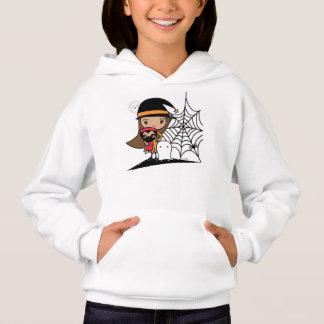 Halloween-Hexe und Mops-Sweatshirt Hoodie